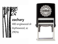 Self-Inking Personalized Address Stamp with Birch Trees Design - CS3643