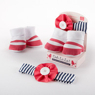 """Ooh La La!"" Parisian Headband & Booties Baby Gift Set"