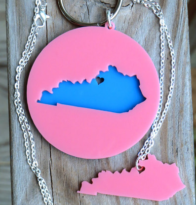 State Love Necklace & Keychain Set