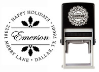 Holly Self-Inking Personalized Address Stamp - CS3514