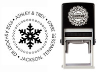 Single Snowflake Self-Inking Personalized Address Stamp - CS3518