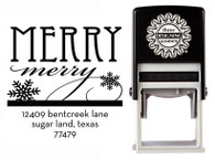 Merry Merry Self-Inking Personalized Address Stamp - CS3523