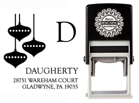 Ornaments Self-Inking Personalized Address Stamp - CS3526