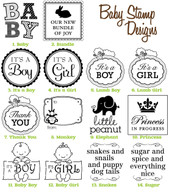 Baby Mix and Match Stamp Designs - Choose SIX of our designs