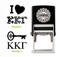 Greek Sorority Stamp Set - ΚKΓ Kappa Kappa Gamma