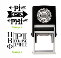 Greek Sorority Stamp Set - ΠΒΦ Pi Beta Phi