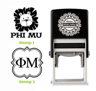 Greek Sorority Stamp Set - ΦΜ Phi Mu
