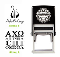 Greek Sorority Stamp Set - ΑΧΩ Alpha Chi Omega