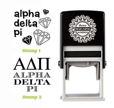 Greek Sorority Stamp Set - ΑΔΠ Alpha Delta Pi