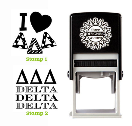 Greek Sorority Stamp Set - ΔΔΔ Delta Delta Delta