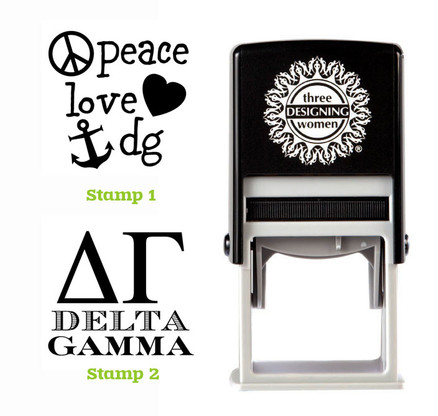Greek Sorority Stamp Set - ΔΓ Delta Gamma