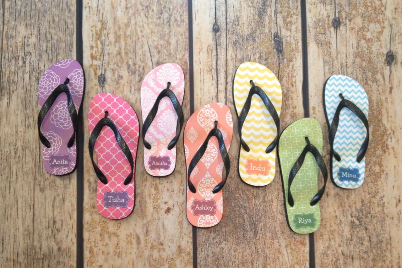 6062edd9c Monogram Personalized Flip Flop Beach Sandals - Custom Design