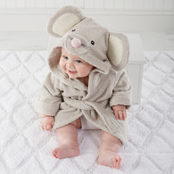 """Squeaky Clean"" Mouse Hooded Baby Terrycloth Bath Spa Robe"