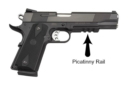 Gun Holsters - 1911 Pistols with a Rail