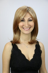 Nicole Monofilament Wig with Roots in Nutmeg-F