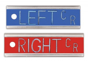 "Elite Style Marker Set with initials - ""Left"" and ""Right"""