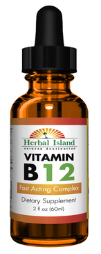B12 Liquid Drops Vitamin - 2 fl oz Fast Acting Complex