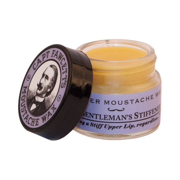 Captain Fawcetts Lavender Moustache Wax 15ml Open