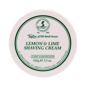 Taylor of Old Bond Street Lemon and Lime Shave Cream 150g