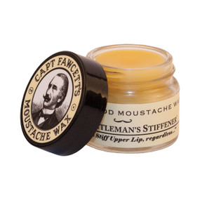 Captain Fawcetts Sandalwood Moustache Wax 15ml Open