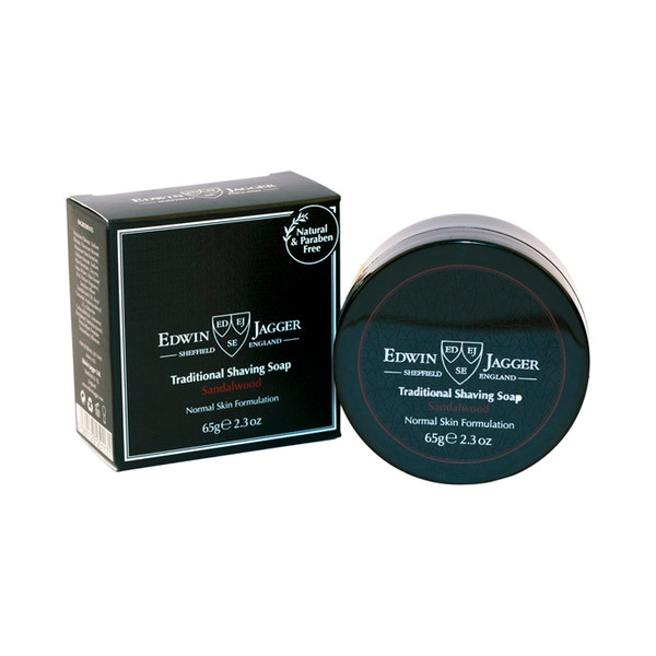 Edwin Jagger Traditional Shaving Soap Sandalwood 65g - Travel container