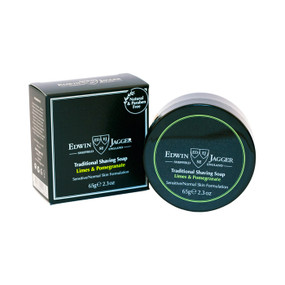 Edwin Jagger Traditional Shaving Soap Limes and Pomegranate 65g - Travel container