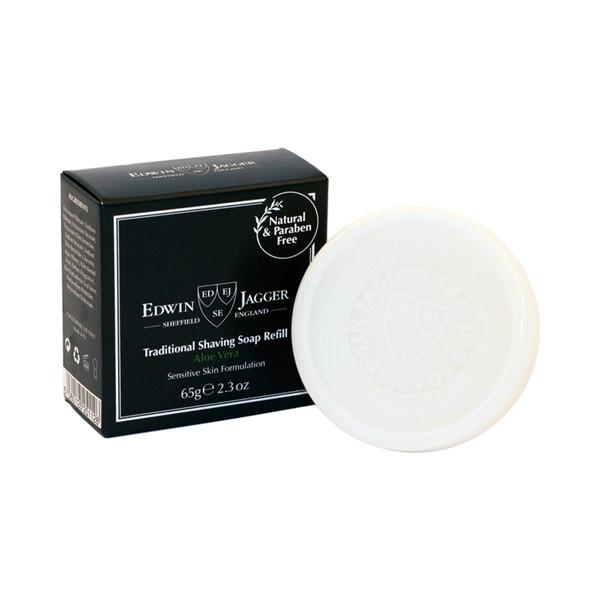 Edwin Jagger Traditional Shaving Soap Aloe Vera 65g - Refill