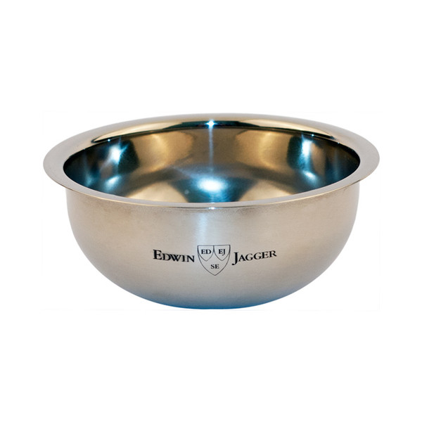 Edwin Jagger Contemporary Shaving Soap Bowl - Chrome Plated