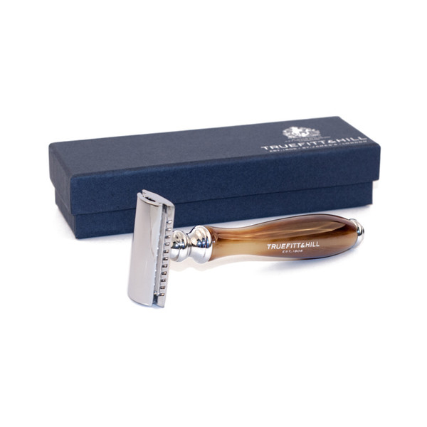 Truefitt and Hill Wellington Double Edge Safety Razor - Faux Horn