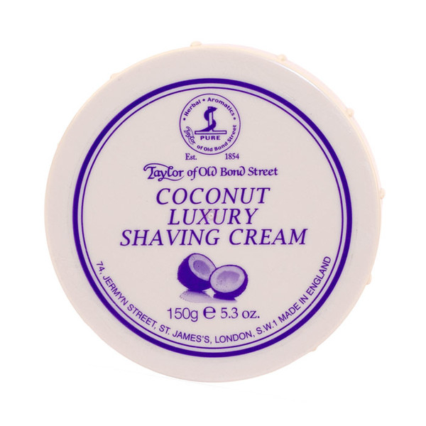 Taylor of Old Bond Street Coconut Luxury Shave Cream 150g