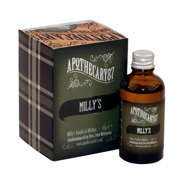 Apothecary87 Milly's Vanila and Mango Beard Oil 50ml Unboxed