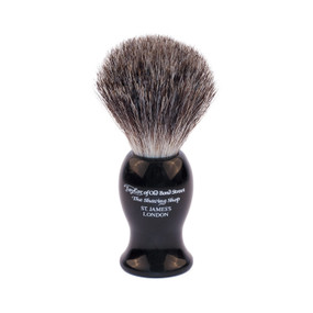 Taylor of Old Bond Street Black Large Pure Badger Shaving Brush