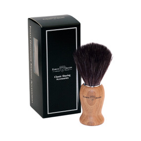 Edwin Jagger Fibre Synthetic Brush - Beech Wood Handle