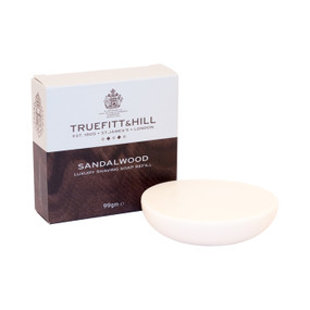 Truefitt and Hill Luxury Shaving Soap Bowl - Sandalwood - Refill 99g