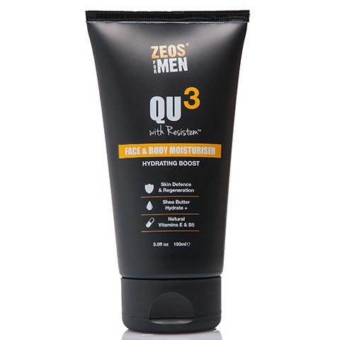 ZEOS QU3 Face & Body Moisturiser 150ml - Front