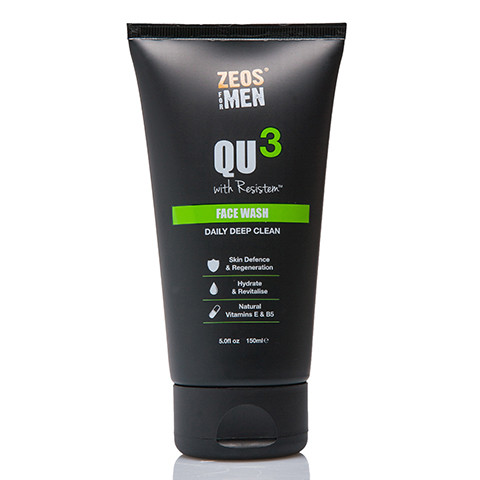 ZEOS QU3 Face Wash 150ml - Front