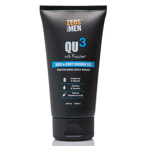 ZEOS QU3 Hair & Body Shower Gel 150ml - Front