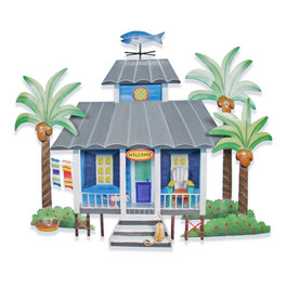 Blue Caribbean Cottage