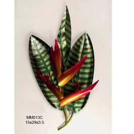 Heliconia Metal Wall Art