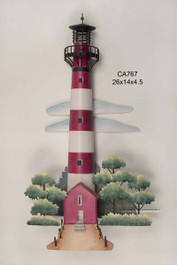 Assateaque Lighthouse Metal Wall Art