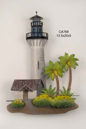 Key West Lighthouse Metal Wall Sculpture