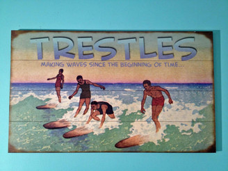 Trestles Beach Vintage Surfing Sign