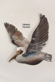 Pelican Flying Left - Metal Wall Art