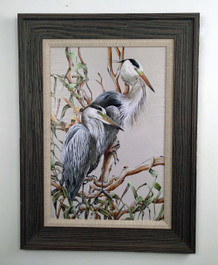 """Birds of a Feather - Herons 32"""" x 24"""""""