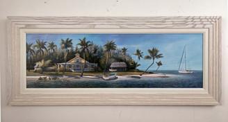 "Island Getaway Painting 41.5"" x 17.5"""