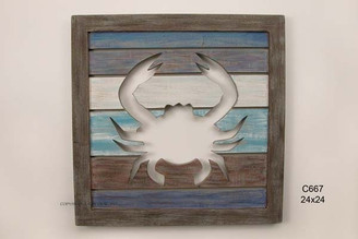 Cutout Slatwood Crab Panel