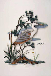 Blue Heron Wall Sculpture