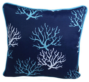 BLUE CORAL REEF 17 X 17 LAVA PILLOWS