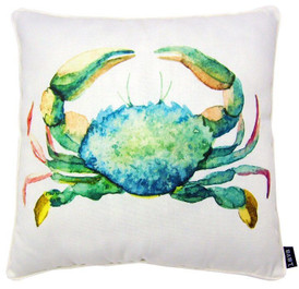 "BLUE CRAB PILLOW 18 X 18"" - LAVA PILLOWS"