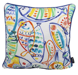CARIBBEAN FISH 17 X 17 LAVA PILLOWS INDOOR/OUTDOOR